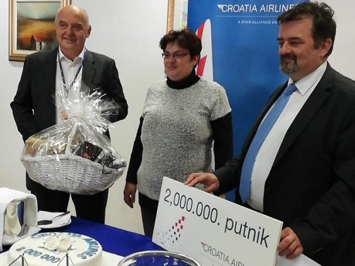 Dvomilijuntni putnik Croatia Airlinesa