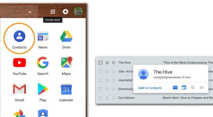 gmail adresar