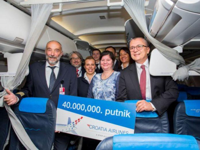 croatia airlines jubilarna putnica